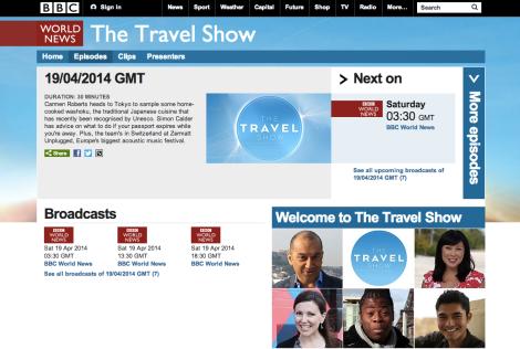 BBC(英国営放送)でNAGOMI VISIT が紹介されます